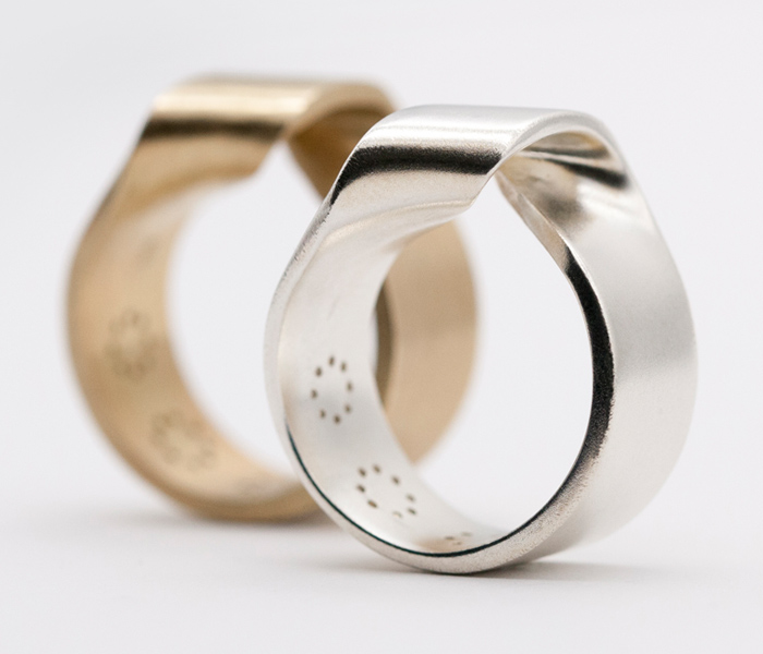 MOMENTUM-RING-GOLD-AND-STERLING-SILVER-MATT-FINISH-LARISSAGEHRMANN